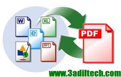 طريقة تحويل ملف Pdf الى Word يدعم العربية و العكس من Word الى Pdf