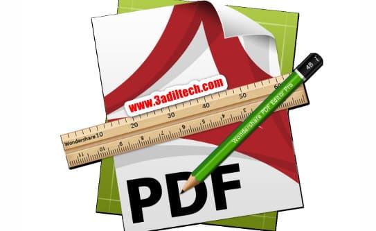 طريقة التعديل على ملفات pdf بالشكل الصحيح